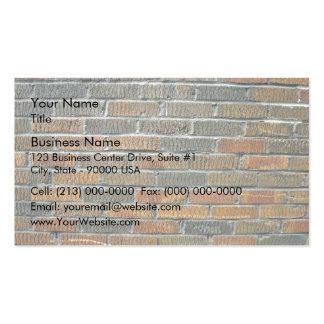 Modelo inconsútil de la pared de ladrillo tarjeta de visita