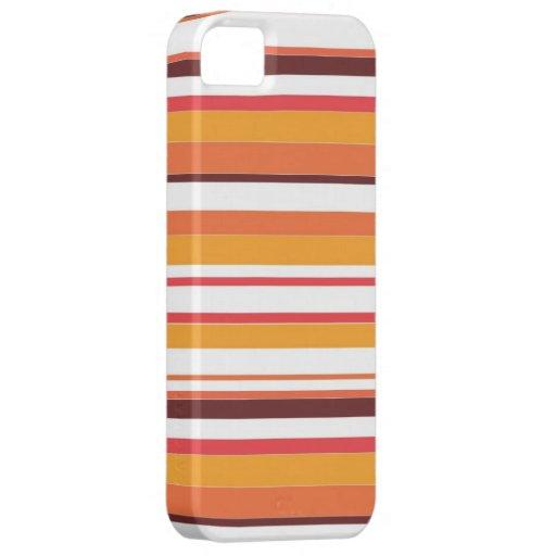 Modelo inconsútil de las rayas coloridas iPhone 5 Case-Mate protector