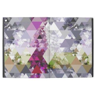 Modelo inconsútil de los triángulos - violeta gris