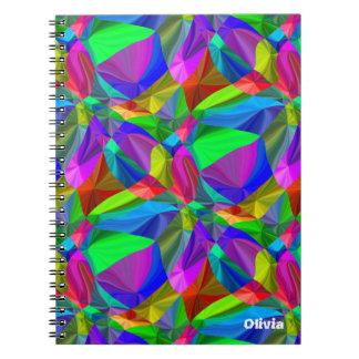 Modelo inconsútil del arco iris brillante por todo notebook