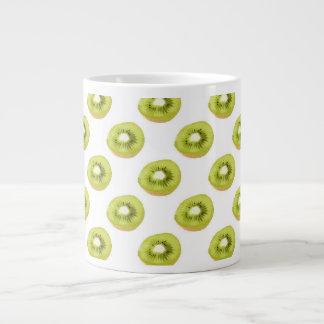 Modelo inconsútil del kiwi verde tazas extra grande
