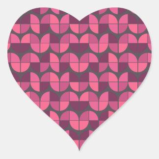 Modelo inconsútil elegante pegatina en forma de corazón