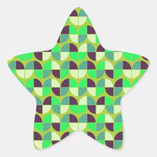 Modelo inconsútil elegante pegatina en forma de estrella