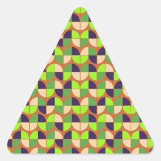 Modelo inconsútil elegante pegatina triangular