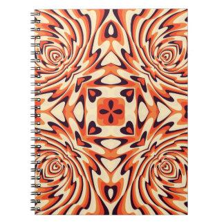Modelo inconsútil floral retro colorido libros de apuntes