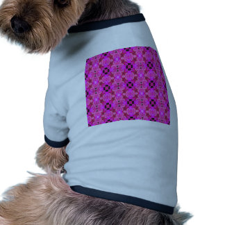 modelo inconsútil geométrico rosado ropa de perros