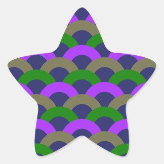 Modelo inconsútil sofisticado pegatina en forma de estrella