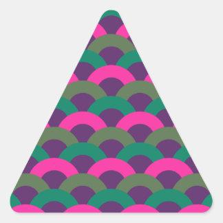 Modelo inconsútil sofisticado pegatina triangular