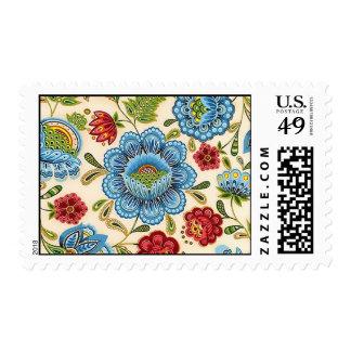 Modelo indio floral retro del vintage de Paisley Franqueo