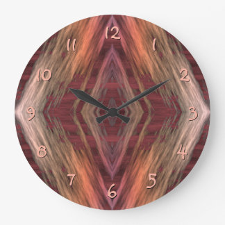Modelo indio nativo americano de la cabina del reloj redondo grande