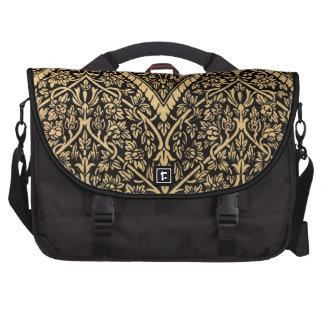 Modelo indio negro del diseño del vintage del ador bolsas para portatil