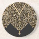 Modelo indio negro del diseño del vintage del ador posavasos personalizados