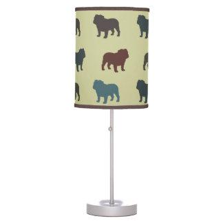 Modelo inglés de los dogos lámpara de mesilla de noche