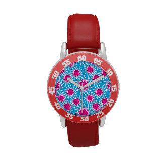 Modelo intrépido del trullo de las rosas fuertes reloj de mano