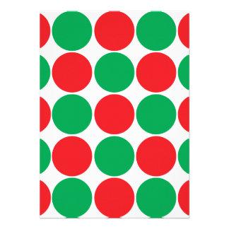 Modelo intrépido grande rojo y verde de los círcul anuncio personalizado