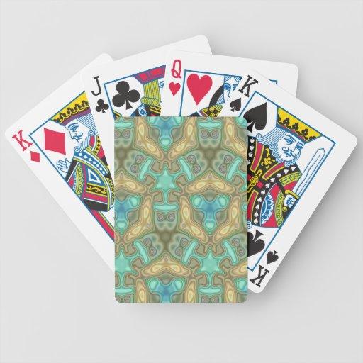 Modelo inusual colorido baraja de cartas