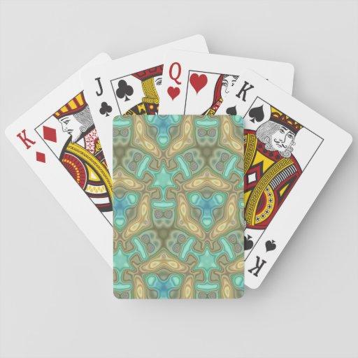 Modelo inusual colorido cartas de póquer