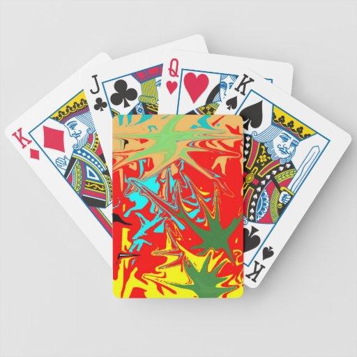 Modelo inusual feo cartas de juego