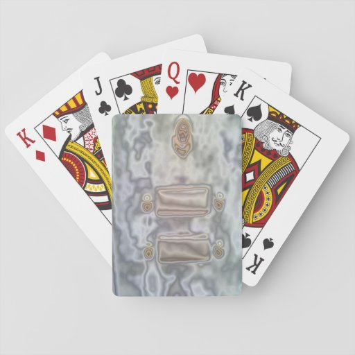 Modelo inusual cartas de juego