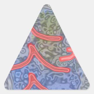 modelo inusual y extraño pegatina triangular