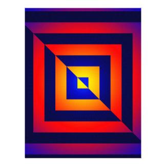 Modelo invertido geométrico colorido membrete a diseño