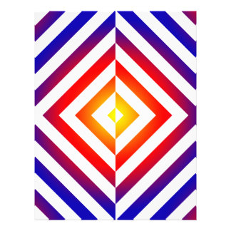 Modelo invertido geométrico colorido membretes personalizados