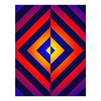 Modelo invertido geométrico colorido plantilla de membrete