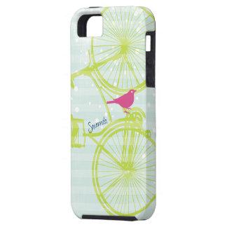 Modelo Iphone 5 de la bici de la verde lima del pá iPhone 5 Case-Mate Protector