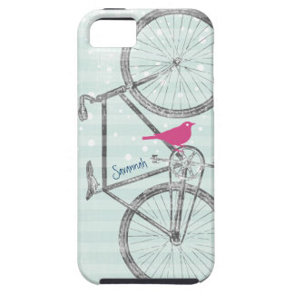 Modelo Iphone 5 de la bici de la verde menta del p iPhone 5 Cárcasas
