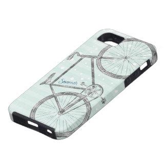 Modelo Iphone 5 de la bici de la verde menta del v iPhone 5 Case-Mate Carcasa