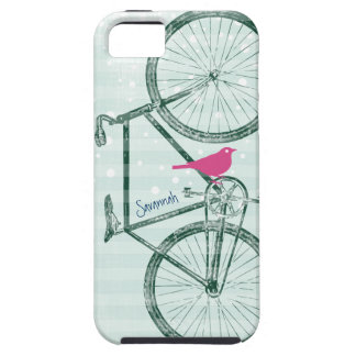 Modelo Iphone 5 de la bici del verde esmeralda del iPhone 5 Carcasas