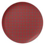 Modelo iridiscente rojo del diamante platos de comidas