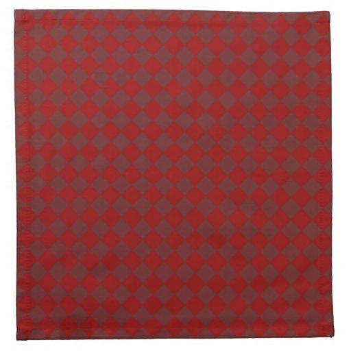 Modelo iridiscente rojo del diamante servilletas de papel