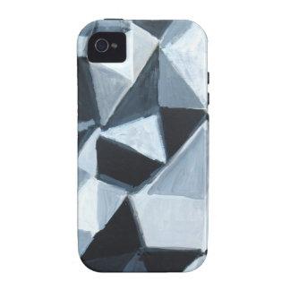 Modelo irregular del triángulo en blanco y negro vibe iPhone 4 carcasa