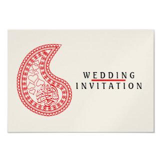 Modelo islámico del compromiso del boda del Islam Invitación 8,9 X 12,7 Cm