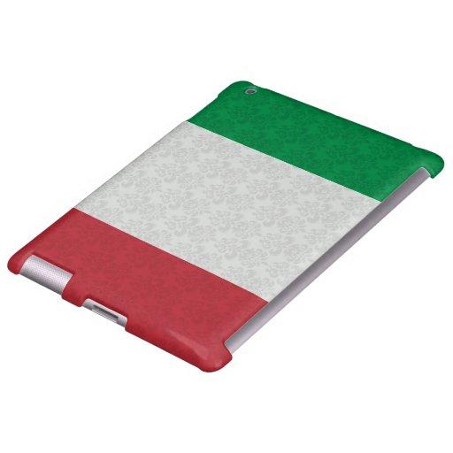 Modelo italiano del damasco de la bandera