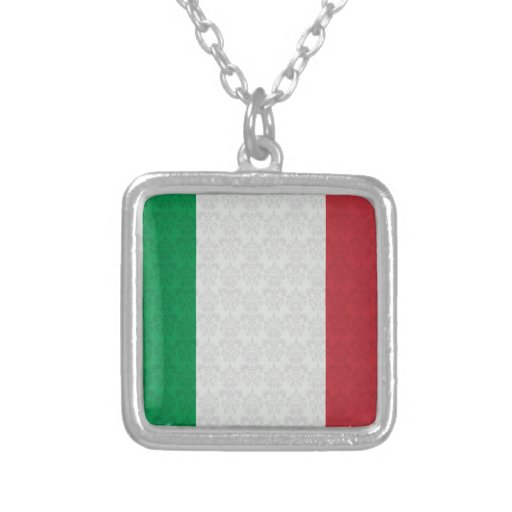 Modelo italiano del damasco de la bandera joyeria personalizada