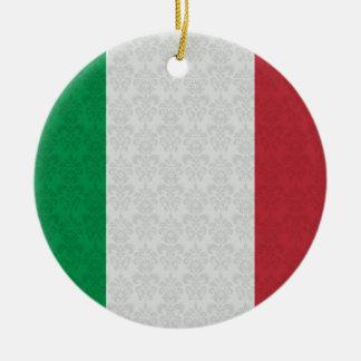 Modelo italiano del damasco de la bandera adorno redondo de cerámica