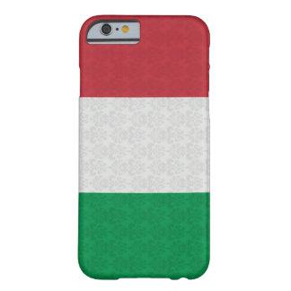 Modelo italiano del damasco de la bandera funda de iPhone 6 barely there