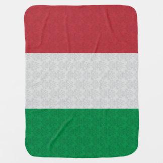 Modelo italiano del damasco de la bandera mantitas para bebé