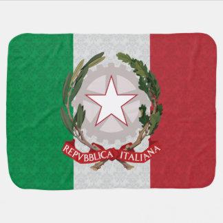 Modelo italiano del damasco del escudo de armas de manta de bebé
