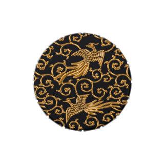 Modelo japonés de oro del arabesque de los pájaros jarrones de dulces