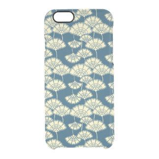 Modelo japonés floral oscuro de la hoja de oro de funda clearly™ deflector para iPhone 6 de uncommon