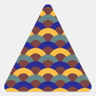 Modelo japonés inconsútil pegatina triangular