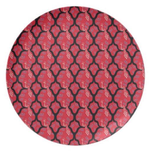 Modelo japonés oriental fresco del extracto del pa platos de comidas