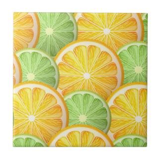 Modelo jugoso de la cal y del naranja azulejo cuadrado pequeño