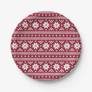 Modelo justo carmesí del suéter del navidad de la