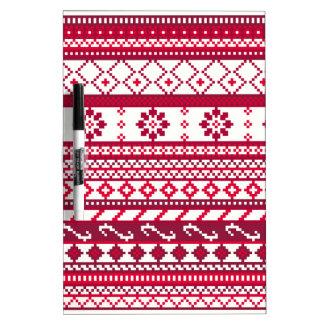 Modelo justo rojo del navidad de la isla tableros blancos