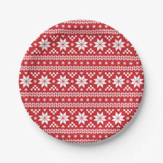 Modelo justo rojo del suéter del navidad de la
