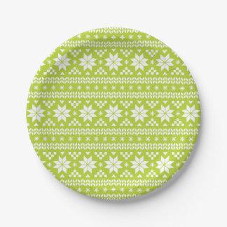 Modelo justo verde del suéter del navidad de la